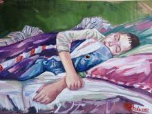 Daria Politova Śpiący